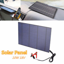 10W 18V Portable Solar Panel Power Cell Charger Monocrystalline Battery Home