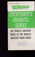 Everybody's Favorite Series Catalog Amsco Music Publishing