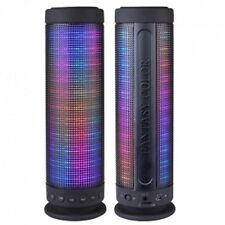 Color Dancing Portable Bluetooth Speaker (9.25 Tall) w/Led Visual Equalizer 3.5m