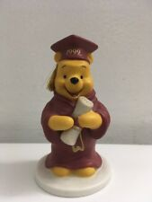 "Disney Winnie The Pooh Porcelain Figurine 4"" Tall 1999 Sri Lanka"