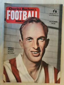 FOOTBALL MONTHLY MAGAZINE CHARLIE FLEMING - OCTOBER 1956