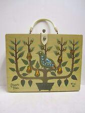 Vintage 1965 Enid Collins Box Bag Handbag Purse Partridge In A Pear Tree