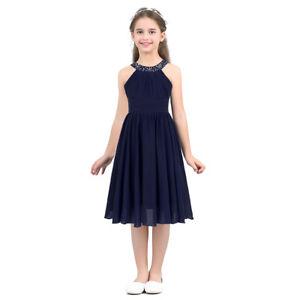 UK Flower Girl Dress Kids Pageant Wedding Bridesmaid Party Gown Princess Dresses