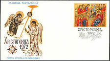 Greece. Christmas 1972, Three Kings Worshipping The Birth of Christ, Greek FDC