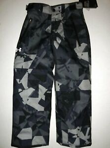 NWT Under Armour Storm Boy's Large 14 Insulated Ski Snow Pants Gray Camo