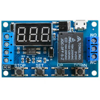 DC 6V~30V LED Trigger Delay Relay Control Module ON/Off Delay With Timer