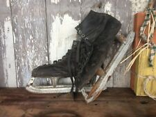 Antique Or Vintage Shabby Ice Skates, Black , Decorative