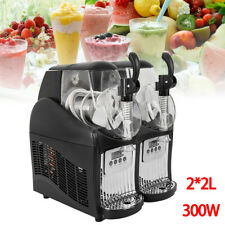 Commercial Ice Beverage Machine Double Cylinder 4L Slush Frozen Drink Machine