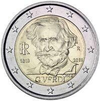 Italien 2 Euro Giuseppe Verdi 2013 Gedenkmünze prägefrisch