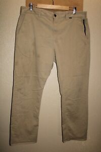 "HURLEY Mens 38""W 30""L khaki chino Pants Combine ship Discount"