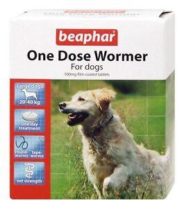 Beaphar una Dosis Vermicida Tableta para Gusanos Perros Grandes Antiparasitario