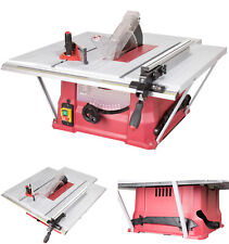 "10"" 240V Bench Table Saw with Side & Rear Extensions TCT Blade 1500W Trade Motor"