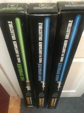 Star Wars Anakin Luke Skywalker Force FX Lightsaber Master Replica 3 BOXES ONLY
