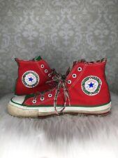 Converse All Star Vintage Christmas High Tops Sz 7 8.5 Holiday Chuck 80s Usa