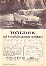 "1962 EK HOLDEN STATION WAGON AD A4 CANVAS PRINT POSTER 11.7""x8.3"""