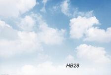 7X5FT Blue Sky & White Cloud Vinyl Studio Backdrop Photography Background HB28