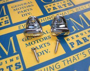 1954-1958 Buick Olds Cadillac Convertibles Chrome Sun Visor Retainer Visor Hooks