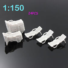 ZY21150 24pcs  Model Train Railway Leisure Chair Settee Bench Scenery 1:150 N