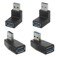90˚ Left Right Angled USB 3.0 A Male To Female Connector Adapter For Laptop PC