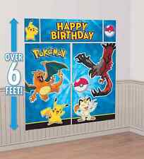 Pokemon Pikachu Scene Setter Happy Birthday Wall Decoration Banner Party Supply