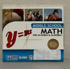 Middle School Math Pre-Algebra & Algebra I CD-ROOM