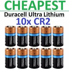 10 x CR2 Duracell 3V Ultra Lithium Batteries (DLCR2, CR17355, ELCR2, Med, Photo)