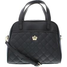 Juicy Couture Womens Crown Royal Black Satchel Handbag Purse Medium BHFO 8810