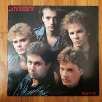 LOVERBOY KEEP IT UP 1983 VG+ Vinyl LP VG+ Cover Columbia QC 38703 Plus Insert