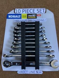 Kobalt Ratcheting Wrench Set SAE PRO 90 - 10 piece Set NEW FREE Same Day Ship !