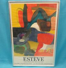 FRAMED MAURICE ESTEVE Aquarelles Récentes Galerie Villand-Galanis 1963 LITHO