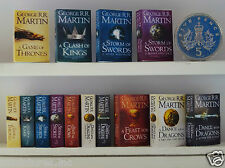 "Set completo 7 x DOLLS HOUSE miniatura ""Game of Thrones"" libri fatti a mano 1:12 TH scala"