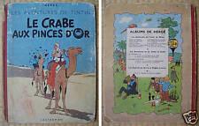 Tintin  LE CRABE AUX PINCES D'OR  Casterman B6 1952