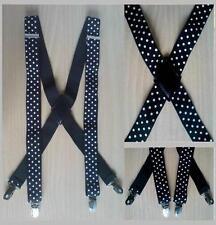 Suspenders Belt Strap Elastic Clips Fashion White Black Jeans Pants New