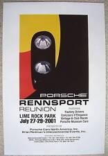 PORSCHE 910 FIRST OFFICIAL RENNSPORT REUNION 1 LIME ROCK CT EVENT POSTER 2001