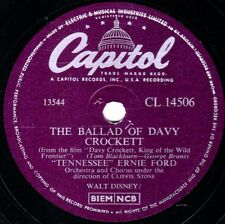 "TENNESSEE ERNIE FORD 78 "" THE BALLAD OF DAVY CROCKETT "" CAPITOL CL 14506 EX/EX+"