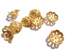 1085BB Bead Cap, Gold ptd copper, 11mm for 10 to 12mm bead, Flower, 20 Qty