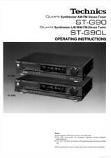 TECHNICS ST-G90 ST-G90L ST G 90 - TUNER - USER INSTRUCTIONS OWNER'S MANUAL -