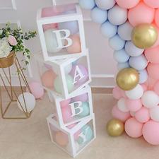 Baby Shower Boxes Party Decorations 4 pcs Transparent Balloons D?cor Letters