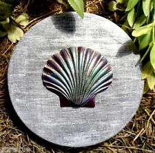 Abs plastic sea shell small stepping stone mould garden casting mold