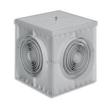 POZZETTO MONOLITICO IN PLASTICA PVC 20x20 CON COPERCHIO X CAVI ELETTRICI