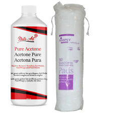 Nail Polish Remover 100% Pure Acetone Acrylic Glue Remover With 80 Cotton Pads