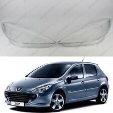 Peugeot 307 LCI (2005 - 2014) OEM Headlight Glass Headlamp Lens Cover PAIR