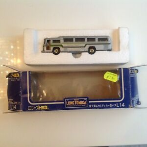 Long Tomica Fuji Semi Decker Diecast Bus 1:100 No L14