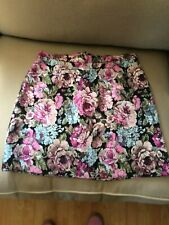 Glittery colourful pink H&M skirt Size 14 BNWT