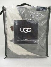 Ugg Torrey Full/Queen Reversible Blanket In Metal Grey/Stone - Sss 303