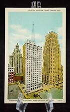 Postcard Heart of Houston Texas Largest City Esperson Second National Bank