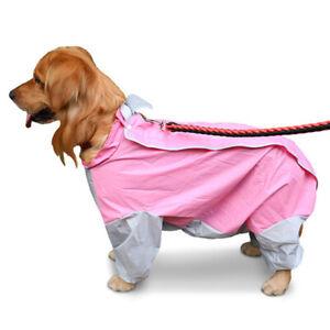 Puppy Pet Raincoat Dog Cat Waterproof Hoodie Rain Coat Jackets Clothes Costume
