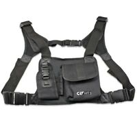 CRT HT3 Radio Walkie Talkie Chest Pocket Harness Bags Pack Backpack Holster