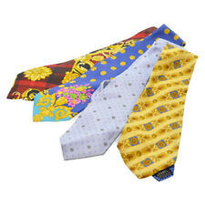 GIANNI VERSACE Necktie 4 Set Yellow Blue Red Auth ar1637