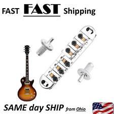 High Quality ---Roller Saddle Chrome Locking Bridge for Electric Les Paul Guitar